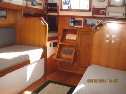 Looking Aft to Companionway Ladder (Quarter-berth is next to ladder)